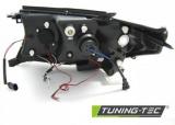 Přední světla Toyota Land Cruiser FJ200 07-12 Angel Eyes černá TUNINGTEC