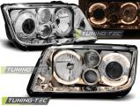 Přední světla VW Bora 09/98-07/05 Angel Eyes chrome