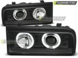 Přední světla VW Corrado 88-95 Angel Eyes černá