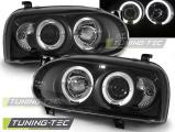 Přední světla VW GOLF 3 09/91-08/97 Angel Eyes černá
