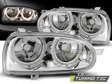 Přední světla VW GOLF 3 09/91-08/97 Angel Eyes chrom