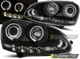 Přední světla VW Golf 5 10/03-09 Angel Eyes černá