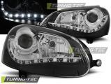 Přední světla VW GOLF 5 černá