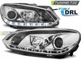 Přední světla VW GOLF 6 10/08-12 TRUE DRL chrom