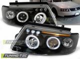 Přední světla VW Passat B5 3B 11/96-08/00 Angel Eyes černá