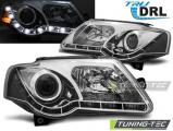 Přední světla VW Passat B6 3C 03/05-10 TRUE DRL chrom