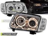 Přední světla VW Polo 6N2 10/99-10/01 Angel Eyes chrom