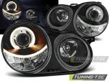 Přední světla VW Polo 9N 11/01-04/05 Angel Eyes černá
