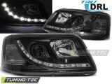 Přední světla VW T5 03/04/08/09 TRUE DRL černá