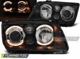 Přední světla VW Bora 09/98-07/05 Angel Eyes černá