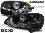 Přední světla VW Golf 5 03-08 černá xenon