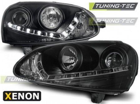 Přední světla VW Golf 5 03-08 černá xenon TUNINGTEC
