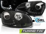 Přední světla VW Golf 5 03/10-09 TRUE DRL černá