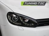 Přední světla VW Golf 6 10/08/12 DUAL TRUE DRL černá TUNINGTEC