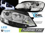 Přední světla VW Golf 7 11/12-17 U-LED chrom