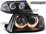 Přední světla VW Passat 3BG B5 FL 09/00-03/05 Angel Eyes černá