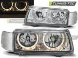 Přední světla VW Passat B4 11/93-05/97 Angel Eyes chrom