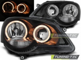 Přední světla VW Polo 9N3 04/05-09 Angel Eyes černá