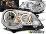 Přední světla VW Polo 9N3 04/05-09 Angel Eyes chrom