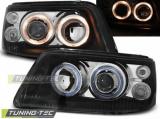 Přední světla VW T5 03/04/08/09 Angel Eyes černá