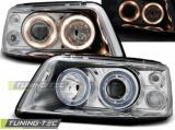 Přední světla VW T5 03/04/08/09 Angel Eyes chrom