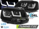 Přední světla VW T5 2010-2015  černá led