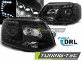 Přední světla VW T5 2010-2015 TRUE DRL černá