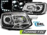Přední světla VW T5 2010-2015 TRUE DRL chrom