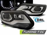 Přední světla VW Tiguan 2011 - 12/2015 TRUE DRL černá
