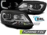 Přední světla VW Touran II 08/10-15 TRUE DRL černá