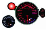 Přídavný budík Depo Racing 115mm - rychloměr s indikátorem max. rychlosti a možností měření pomocí GPS