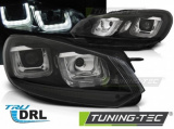 Přední světla VW Golf 6 08-12 černá/černá led