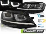 Přední světla VW Golf 7 11/12-17 černá DRL led