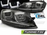 Přední světla VW Golf 7 11/12-17 černá led