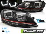 Přední světla VW Golf 7 11/12-17 Led DRL černá/červená