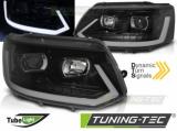 Přední světla VW T5 2010-15 černá SEQ