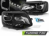 Přední světla VW T5 2010-15 TRUE DRL černá
