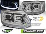 Přední světla VW T5 2010-15 TUBE chrom SEQ
