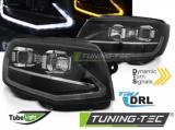 Přední světla VW T6 15-19 TUBE černá DRL SEQ