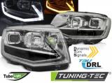 Přední světla VW T6 15-19 TUBE chrom DRL SEQ
