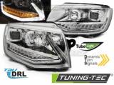 Přední světla VW T6 15-19 TUBE DRL chrom SEQ