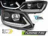 Přední světla VW Touran II 10/08/15 TUBE DRL černá SEQ