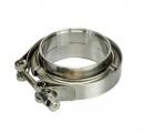 Set přírub kruhových na v-band 76mm (3 palce) - nerezové s auto zámkem HPP