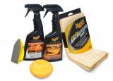 Meguiar's Heavy Duty Leather Care Kit - kompletní sada na čištění a ochranu kožených povrchů