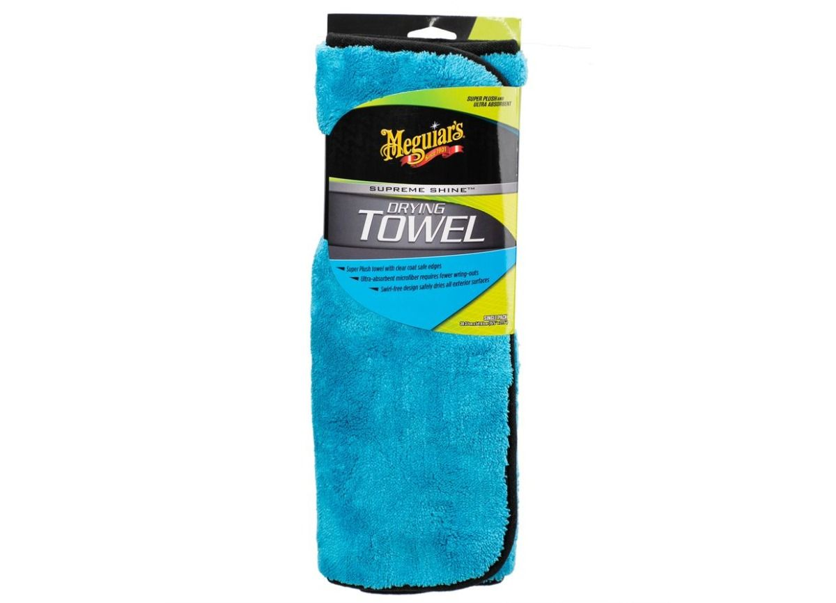 Meguiar's Supreme Shine Drying Towel - extra hustý a savý sušicí ručník z mikrovlákna, 55 x 40 cm Meguiars