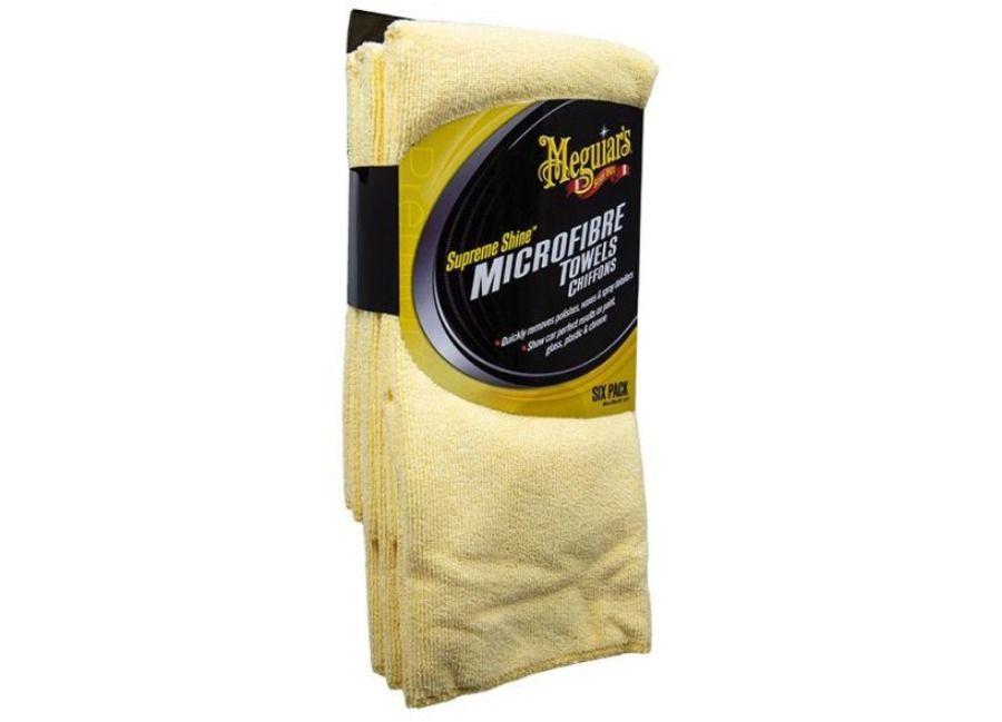 Meguiar's Supreme Shine Microfiber Towel - mikrovláknová utěrka, 40 cm x 60 cm (6 kusů) Meguiars