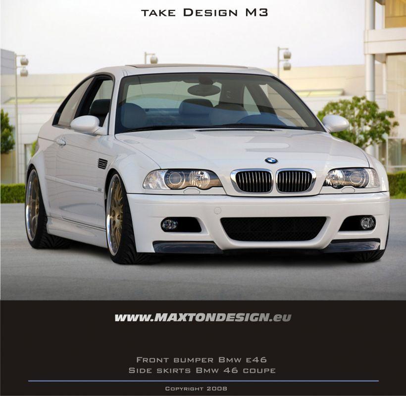 Maxtondesign Přední nárazník BMW E46 coupe/cabrio - M3 LOOK