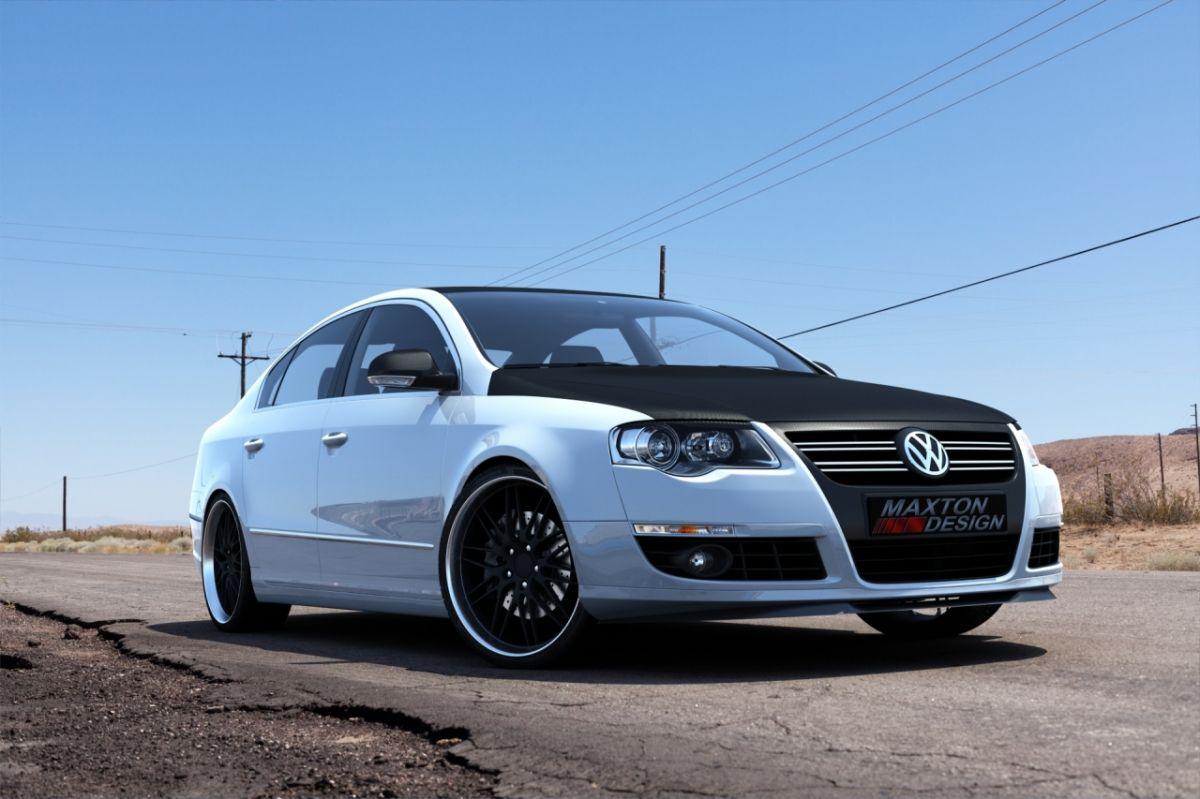 Maxtondesign Přední spoiler nárazníku VW PASSAT B6 (pro standart. Nárazník)