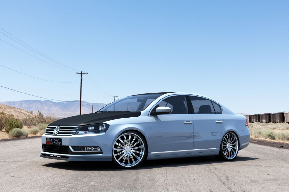 Maxtondesign Přední spoiler nárazníku VW Passat B7 po faceliftu