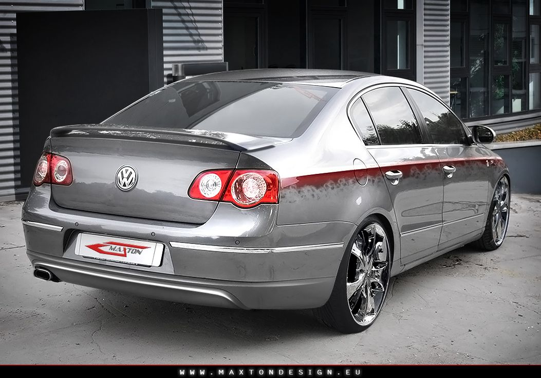 Maxtondesign Zadní spoiler nárazníku VW PASSAT 3C - GP SPORT (pro nárazník EXTENSION)